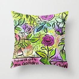 flower-riot-3 Throw Pillow