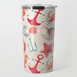 Marine Pattern 04 Travel Mug
