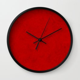 Red suede Wall Clock