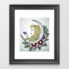 Dirty - Moon Framed Art Print