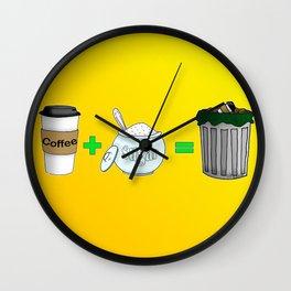 Coffee Math Wall Clock