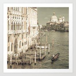 VENICE Canal Grande & Santa Maria della Salute | urban vintage style Art Print