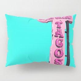 Cha-Cha's Tacos Retro Vintage Pink Sign Pillow Sham