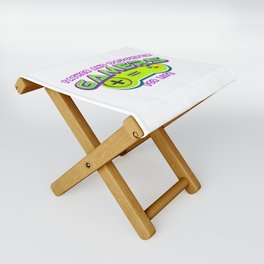 Father and Daughter Gamers For Life Folding Stool