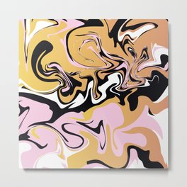 Abstract Marble Pattern 9 Metal Print