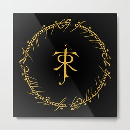 One Ring To Rule Them Metal Print
