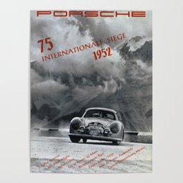 Vintage 1952 Racing Poster Poster
