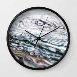 Growth Rings, Blue, Painting Wall Clock