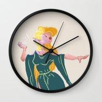 elf Wall Clocks featuring Elf by lueurlunaire (Chloe Losch)