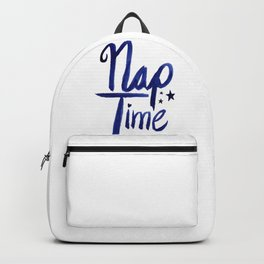Nap Time | Lazy Sleep Typography Backpack