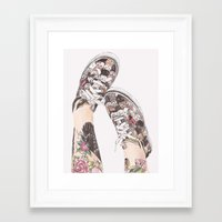 shoes Framed Art Prints featuring Shoes by Carlos ARL