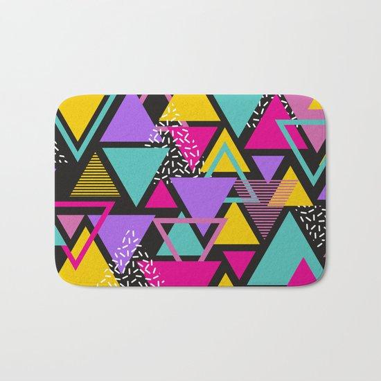 Memphis Triangles Bath Mat