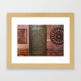 Gold Kaaba Door Framed Art Print