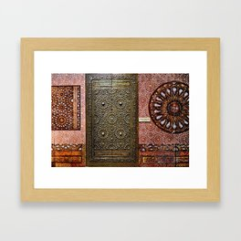Gold Kaaba Door Framed Art Print