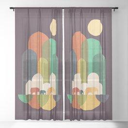 Elephant walk Sheer Curtain