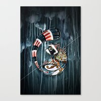 racoon Canvas Prints featuring Racoon by mr. louis