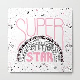 Super Super Star Metal Print