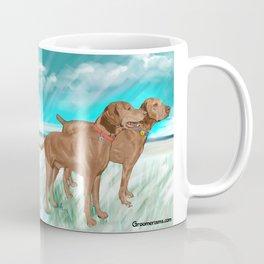 Vizslas by the Sea Coffee Mug