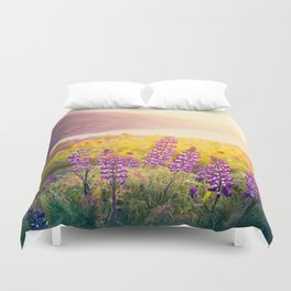 Columbia Gorge Wildflowers Duvet Cover