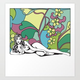 Carte Blanche Nº1 Art Print
