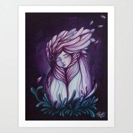 "Wintery uterus II ""Blood Flower"" Art Print"