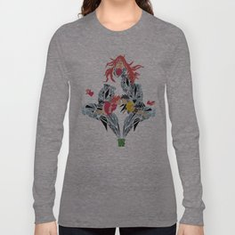 ponyo on the cliff by the sea Long Sleeve T-shirt