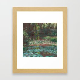 Water Lily Pond by Claude Monet, 1900 Framed Art Print
