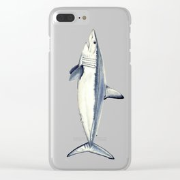 Mako shark (Isurus oxyrinchus) Clear iPhone Case
