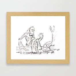 Pondering about loneliness. Framed Art Print