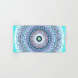 Bright Pastel Boho Chic Mandala Design Hand & Bath Towel