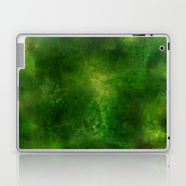 Green Crystal Marble Painting Laptop & iPad Skin