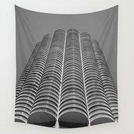 Marina City Tower Photo, Chicago, Architecture Wall Tapestry
