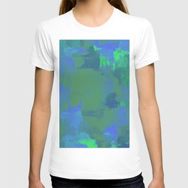 A Different View Of Earth - Abstract, textured, globe painting T-shirt