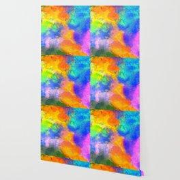 Spilt Rainbow - Abstract, watercolour art / watercolor painting Wallpaper