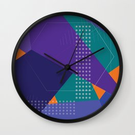 Purple Geometric pattern Abstract funny Wall Clock