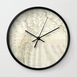 Map, Palestine, holy, land, syria, isreal, province, gaza, strip, jerusalem, Wall Clock