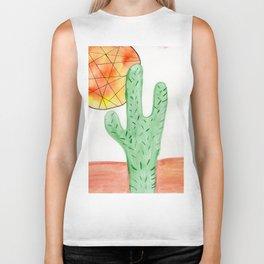 Cacti and Sun Biker Tank