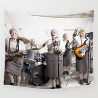 band Wall Tapestries featuring Rock Band by Orbon Alija