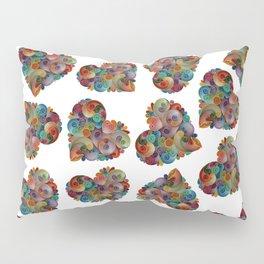 Happy Heart Collage Pillow Sham