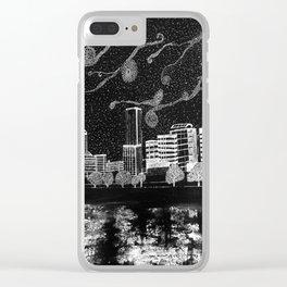 Portland Oregon Skyline Clear iPhone Case