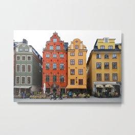Stockholm. Old Houses in Gamla Stan Metal Print