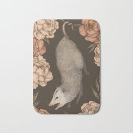 The Opossum and Peonies Bath Mat