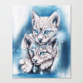 Blue Winter Lynx - Sheena Pike Art & Illustration Canvas Print
