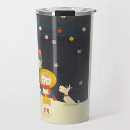 Christmas Carols Singers Travel Mug