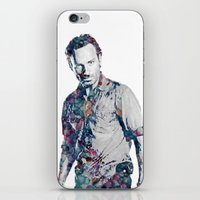 rick grimes iPhone & iPod Skins featuring Rick Grimes by NKlein Design