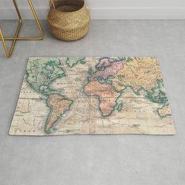 Vintage World Map 1801 Rug