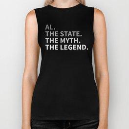 Alabama The State The Myth The Legend Biker Tank