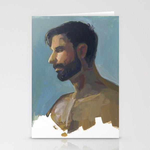 BRAD, Semi-Nude Male by Frank-Joseph Stationery Cards