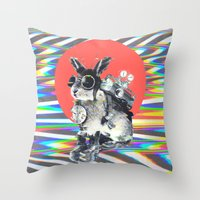 pixar Throw Pillows featuring Time Traveller by Ali GULEC