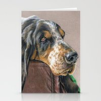 the hound Stationery Cards featuring Hound Dog by Sarahphim Art